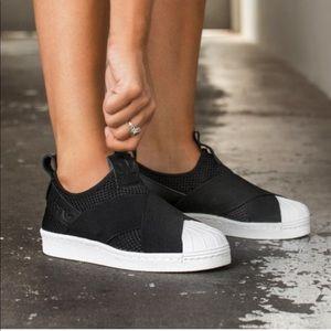 Adidas Superstar Slip on Wide